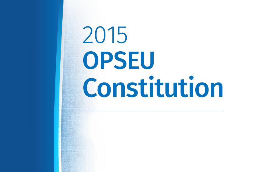 OPSEU Constitution